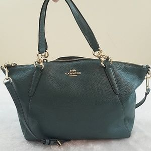 Coach Small Kelsey Pebble Leather Satchel